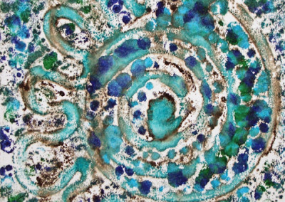 Sea swirl, mixed media by Christine Graham