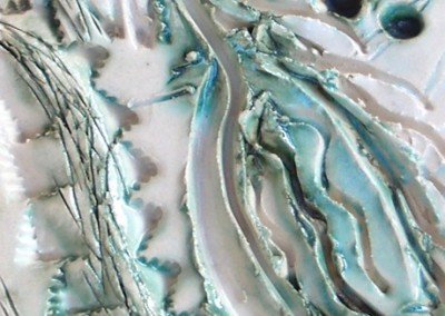 Seaweed ceramic surface detail by  Christine Graham