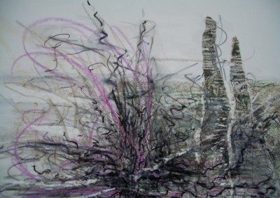Standing Stones, mixed media by Christine Graham